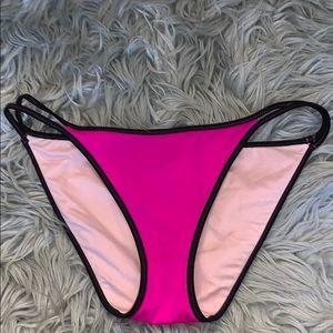 Hot pink bikini bottoms